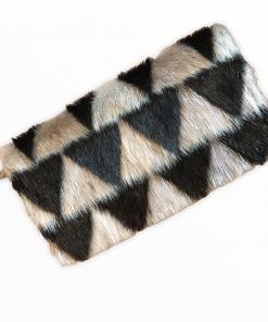 Seal Fur & Seal Skin Product Wallet_NaturalBlack_front_AP