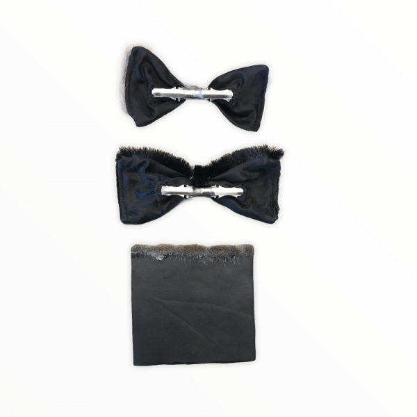 Seal Fur & Seal Skin Product BowtieSet_Backview_AprilPigalak