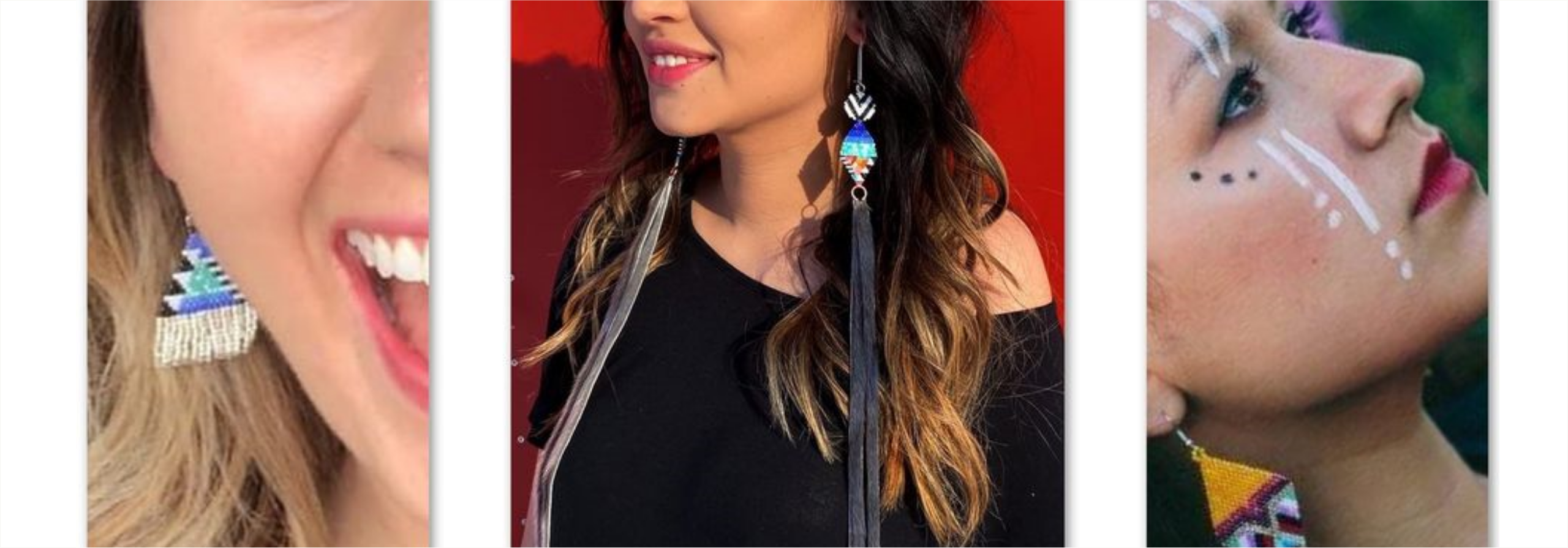 Proudly Indigenous Crafts & Designs (PIC&D) Unique Seal Fur Earrings Header She Was a Free Spirit Erica Lugt