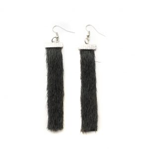 Seal skin Earrings _CherylFennel_Snowfly_ Black _01