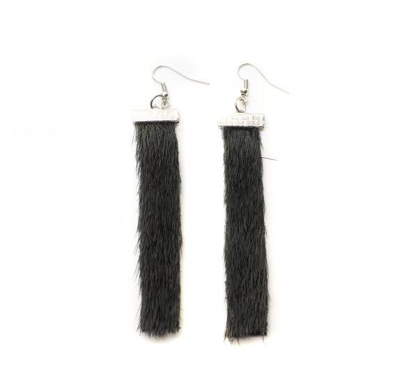 Seal skin Earrings _CherylFennel_Snowfly_ Black _01