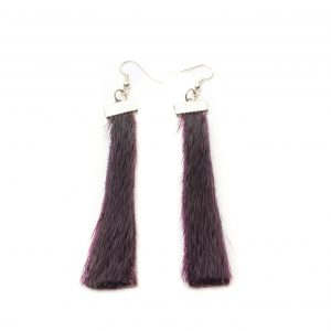 Seal skin Earrings _CherylFennel_Snowfly_ Deep Purple _01