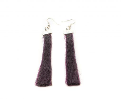 Seal skin Earrings _CherylFennel_Snowfly_ Deep Purple _01