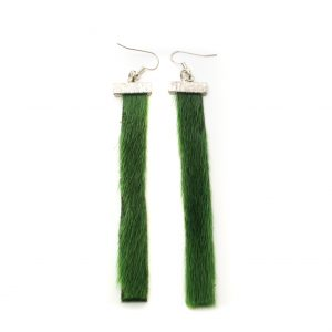 Seal skin Earrings _CherylFennel_Snowfly_ Green _01