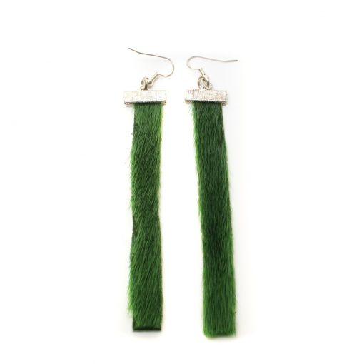 Seal skin Earrings _CherylFennel_Snowfly_ Green _01