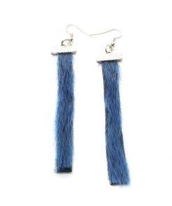 Seal skin Earrings _CherylFennel_Snowfly_ Ice Blue _3.5inch_02