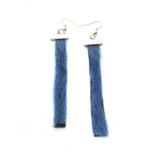 Seal skin Earrings _CherylFennel_Snowfly_ Ice Blue _3.5inch_02