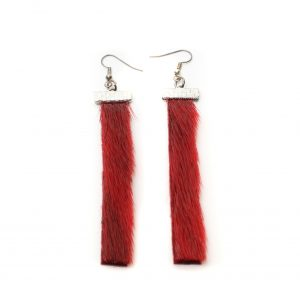 Seal skin Earrings _CherylFennel_Snowfly_ Red _01