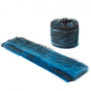 Seal skin Snap Bracelet _Cheryl Fennel_Snowfly_ Ice Blue _01