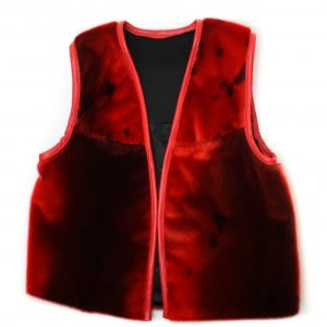Seal skin Vest _Cheryl Fennel_Snowfly_ Red _01