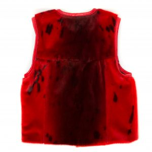 Seal skin Vest _CherylFennel_Snowfly_Red_04