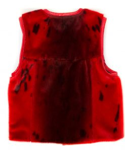 Seal skin Vest _CherylFennel_Snowfly_Red_04