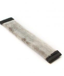 Seal skin Wrist Cuffs _Cheryl Fennel_Snowfly_NaturalGrey_01