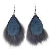 Blue Seal Tear drop Grey Fox GeometricTrim Earrings_Taalrumiq_Christina King_01