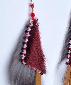 Red Seal Silver Fox Geometric Earrings_Taalrumiq_Christina King_03