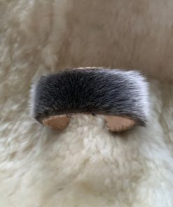 Inuk360 Natural Seal Earring and Cuff Set - Made to order