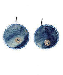 Harp Seal_Caribou Antler_Denim_Seed Beads 1
